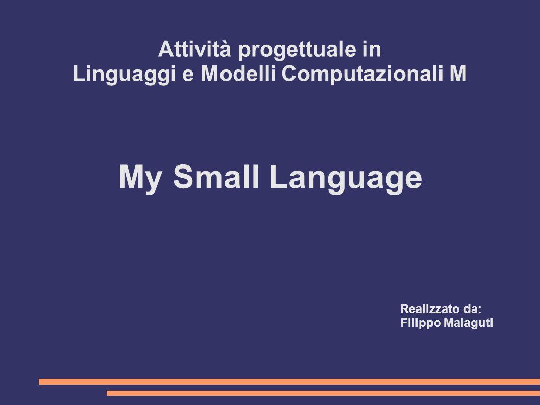 Attività progettuale in Linguaggi e Modelli Computazionali M