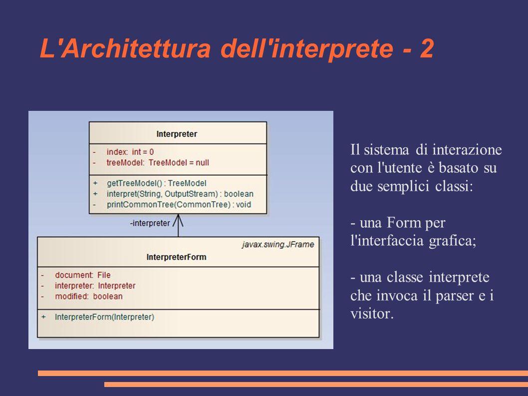 L Architettura dell interprete - 2