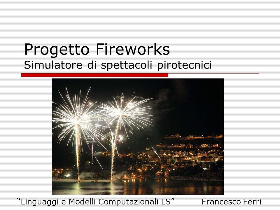 Progetto Fireworks Simulatore di spettacoli pirotecnici