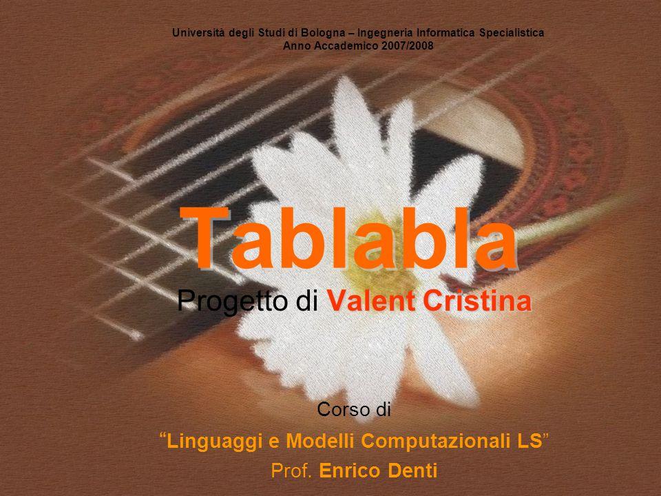Tablabla Progetto di Valent Cristina