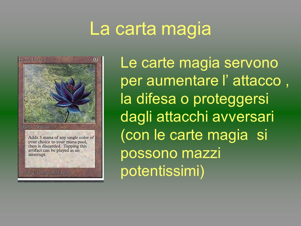 La carta magia