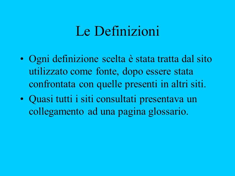 Le Definizioni