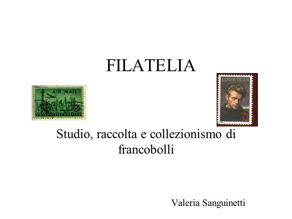 Studio, raccolta e collezionismo di francobolli Valeria Sanguinetti