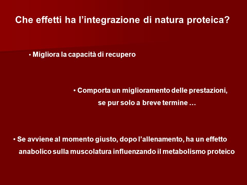 Che effetti ha l'integrazione di natura proteica