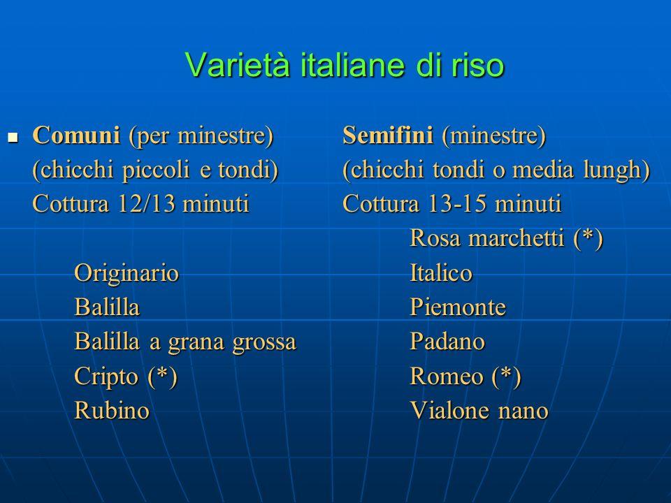 Varietà italiane di riso