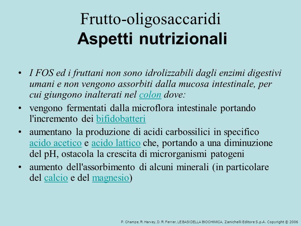 Frutto-oligosaccaridi Aspetti nutrizionali