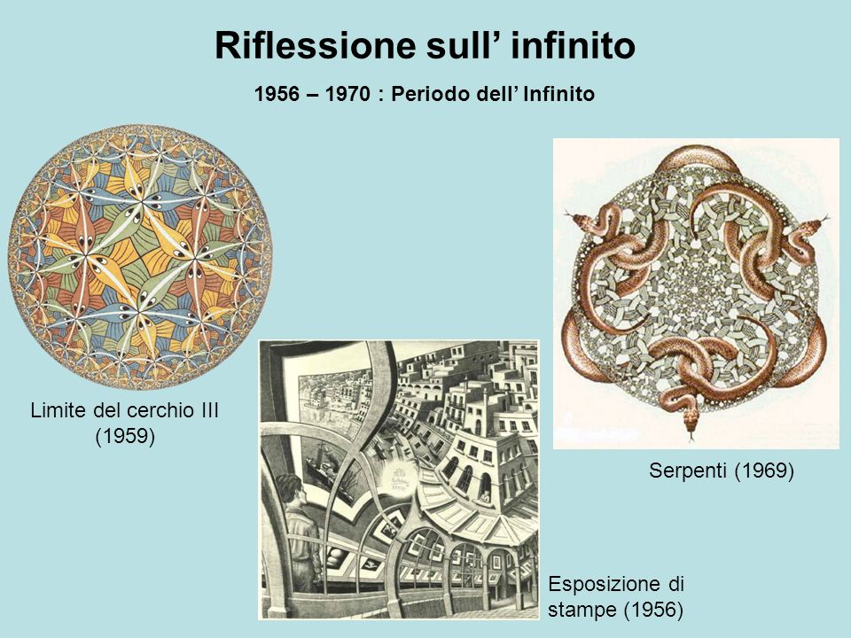 Riflessione sull' infinito 1956 – 1970 : Periodo dell' Infinito