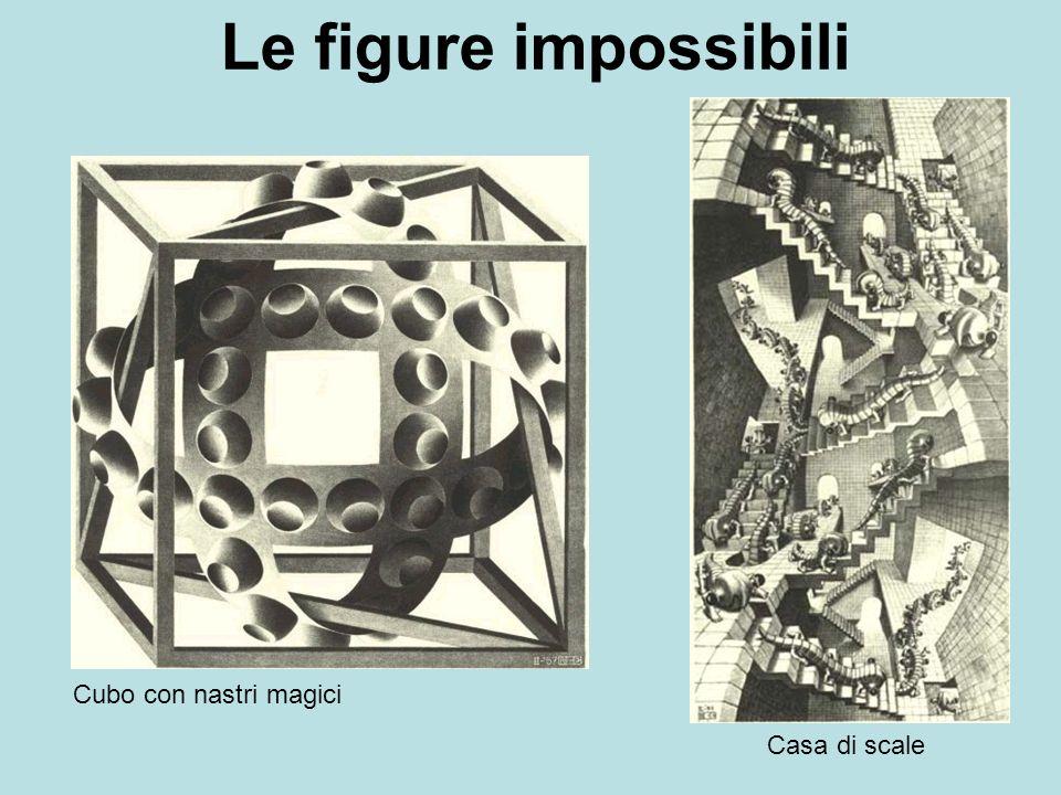 Le figure impossibili Cubo con nastri magici Casa di scale