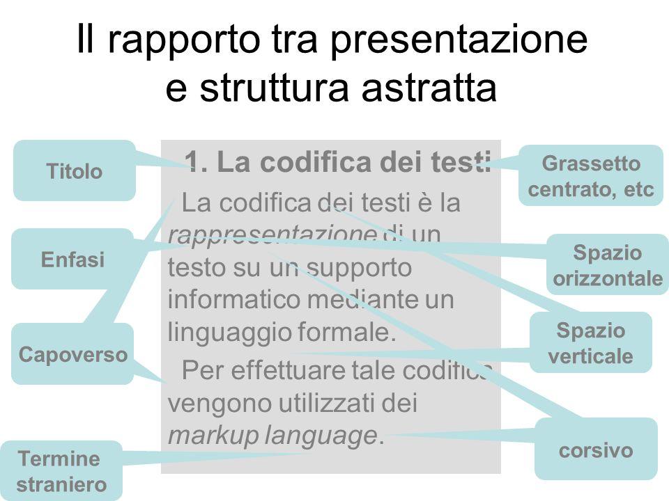 Il rapporto tra presentazione e struttura astratta