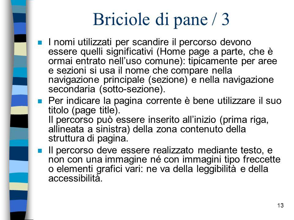 Briciole di pane / 3