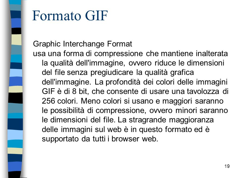 Formato GIF Graphic Interchange Format