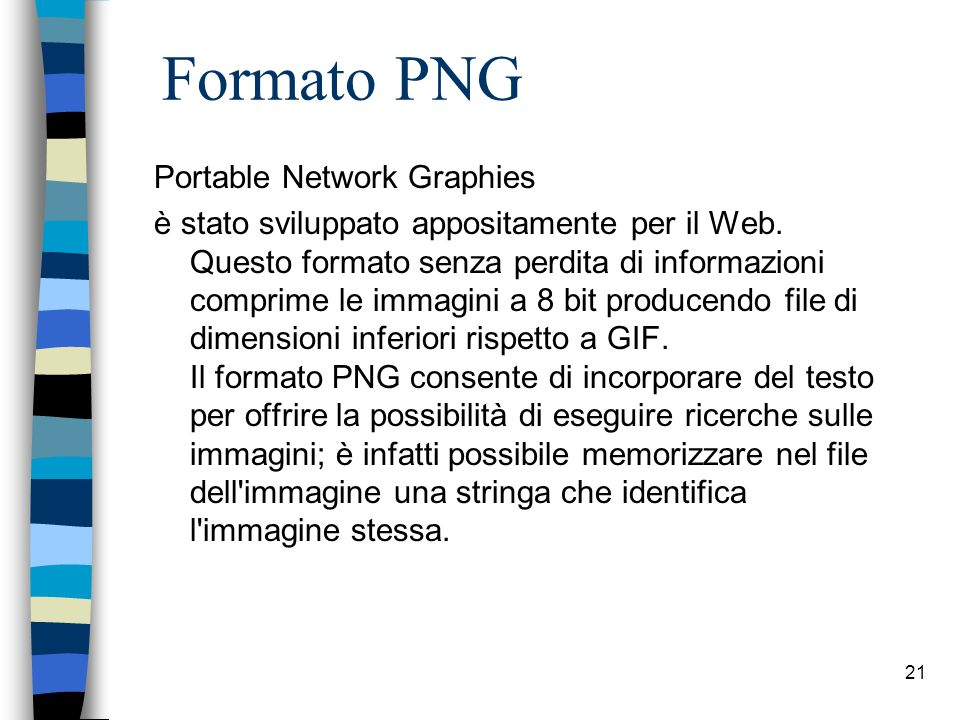 Formato PNG Portable Network Graphies