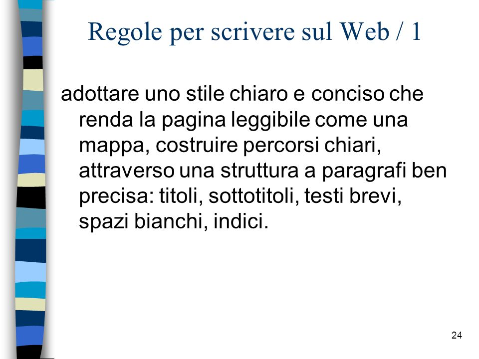 Regole per scrivere sul Web / 1