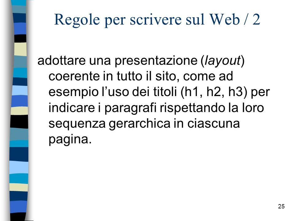 Regole per scrivere sul Web / 2