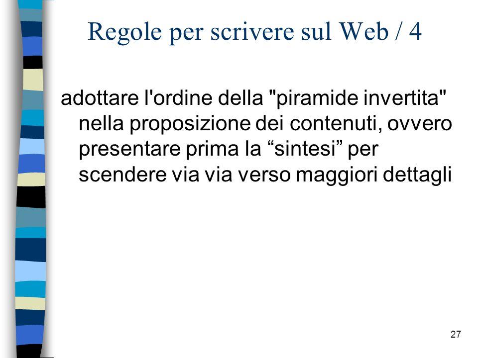 Regole per scrivere sul Web / 4