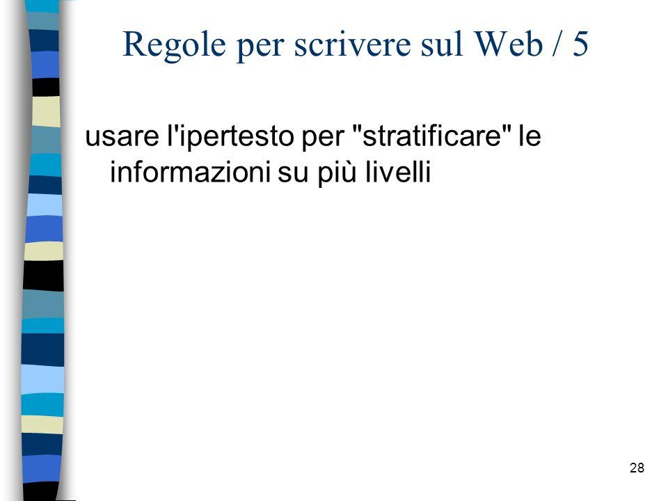 Regole per scrivere sul Web / 5