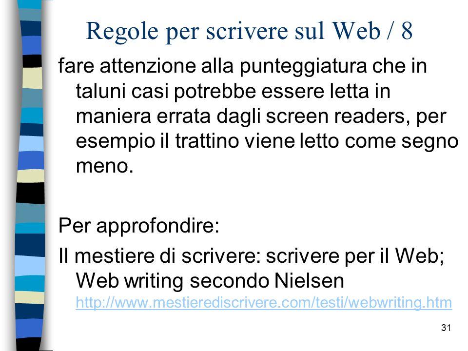 Regole per scrivere sul Web / 8