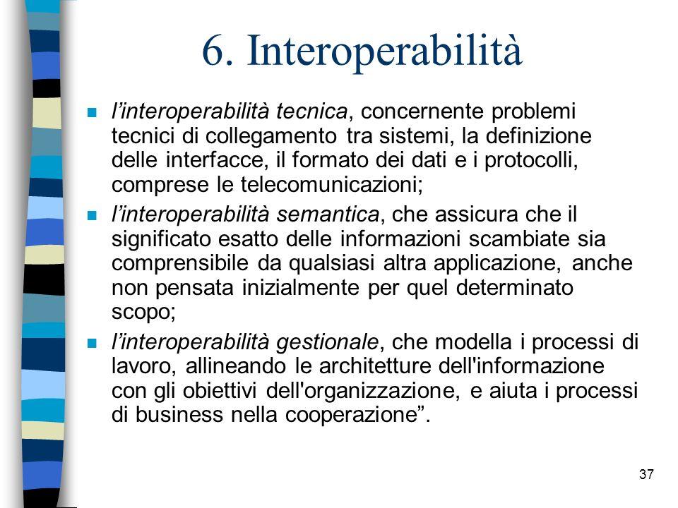 6. Interoperabilità