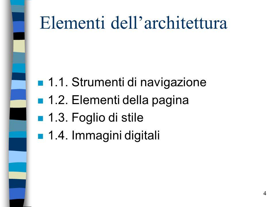 Elementi dell'architettura