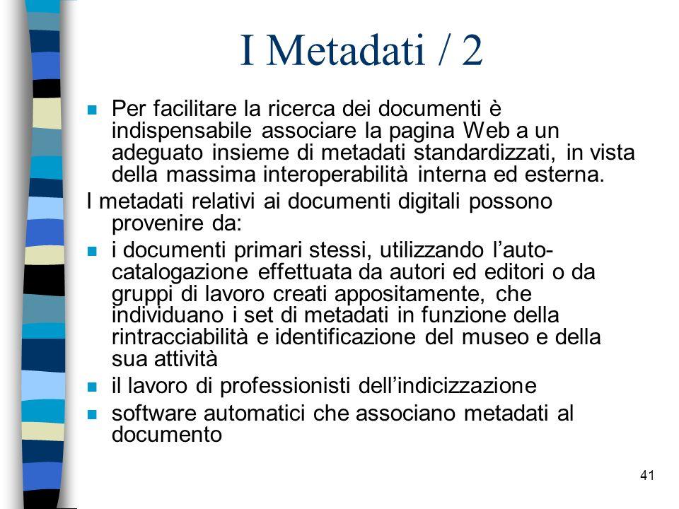 I Metadati / 2