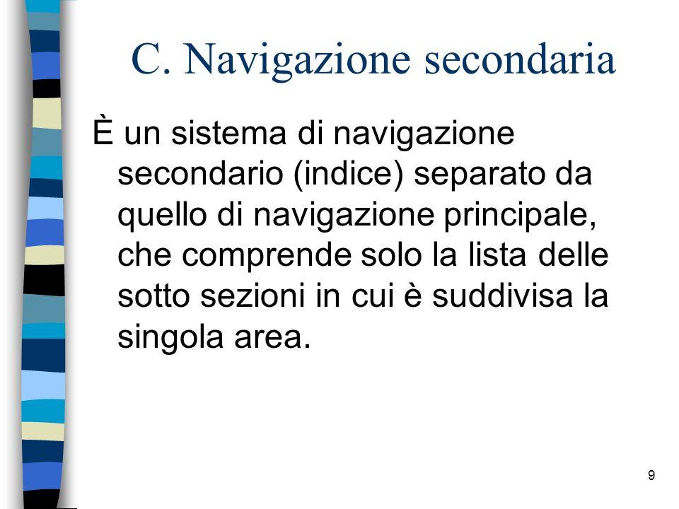C. Navigazione secondaria