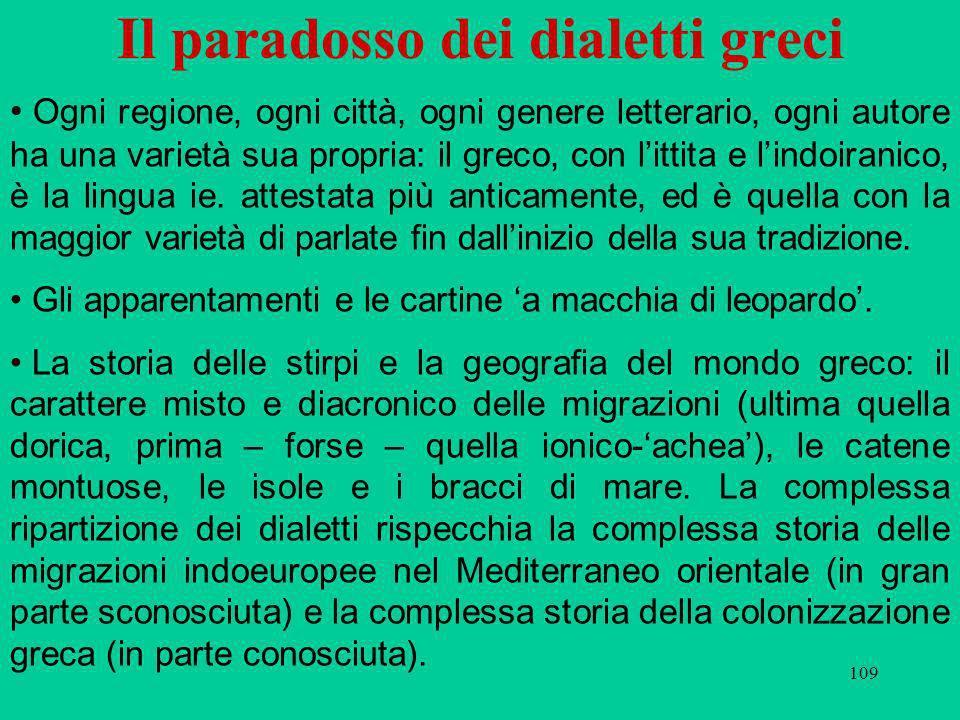 Il paradosso dei dialetti greci