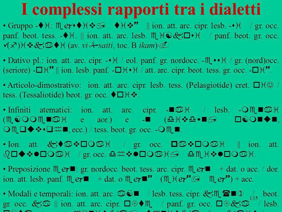 I complessi rapporti tra i dialetti