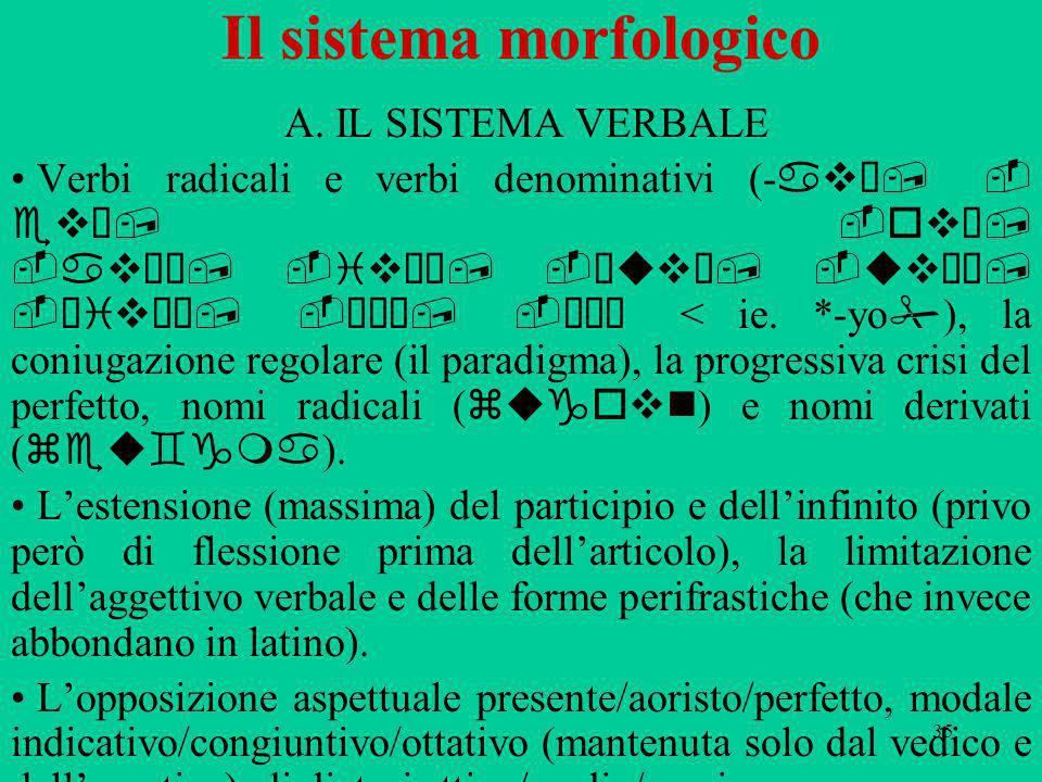 Il sistema morfologico