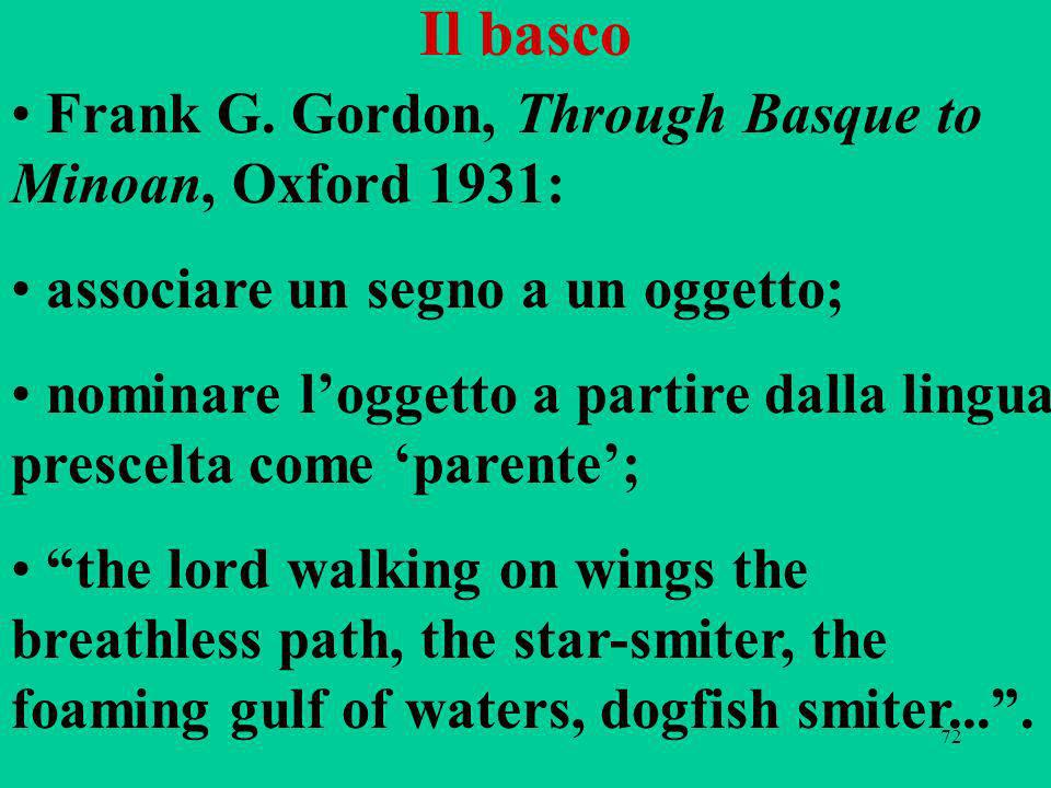 Il basco Frank G. Gordon, Through Basque to Minoan, Oxford 1931: