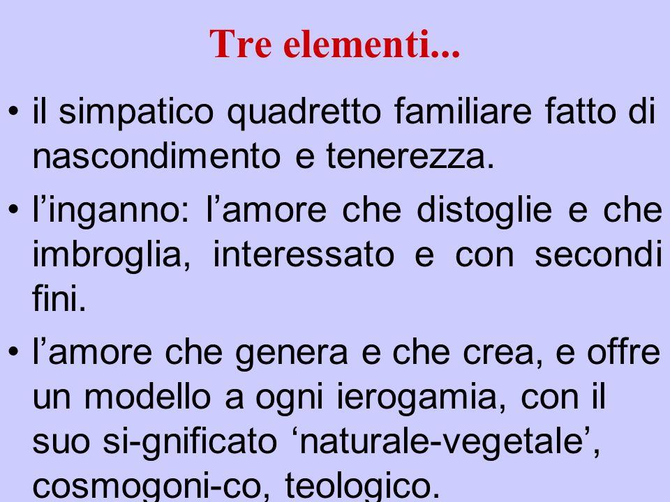 Tre elementi... il simpatico quadretto familiare fatto di nascondimento e tenerezza.