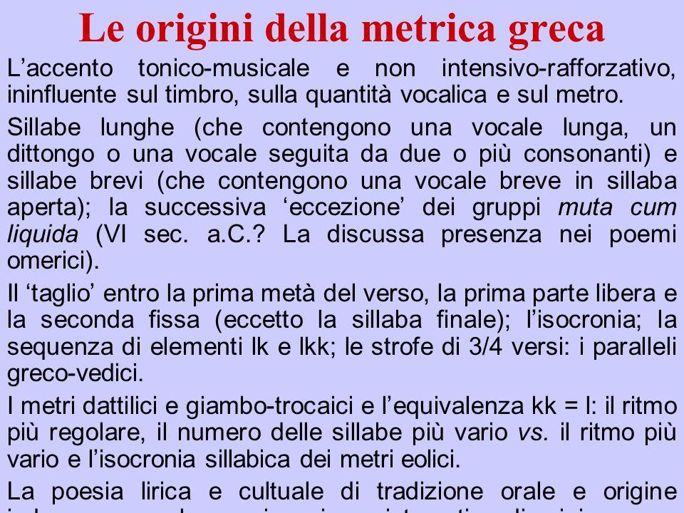 Le origini della metrica greca