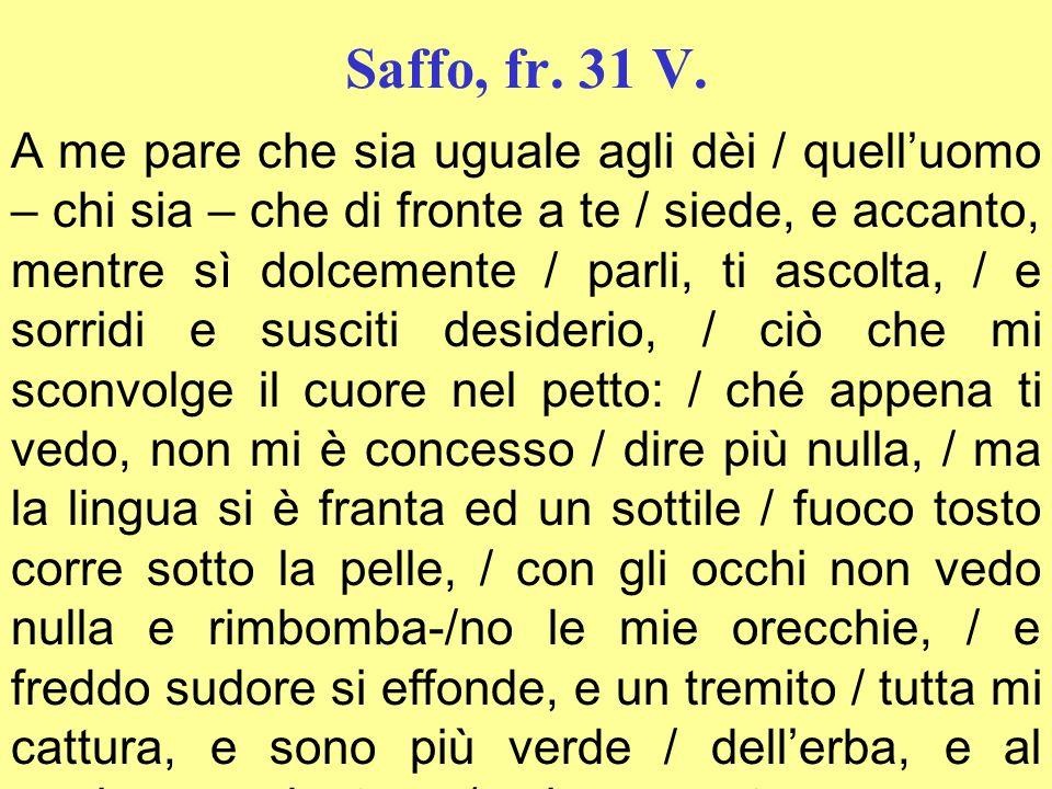 Saffo, fr. 31 V.