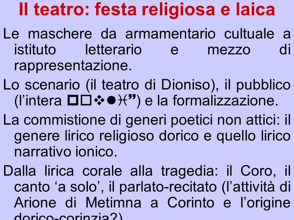 Il teatro: festa religiosa e laica