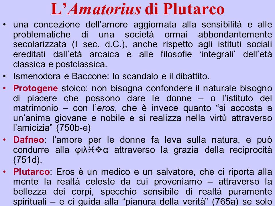 L'Amatorius di Plutarco