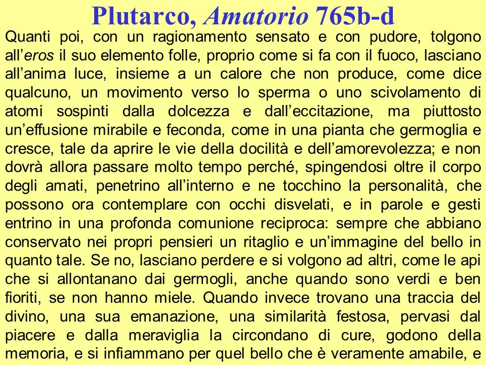 Plutarco, Amatorio 765b-d