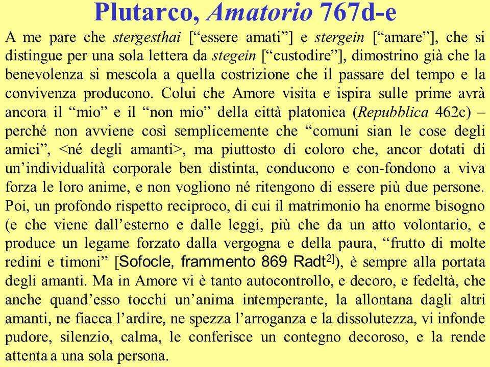 Plutarco, Amatorio 767d-e