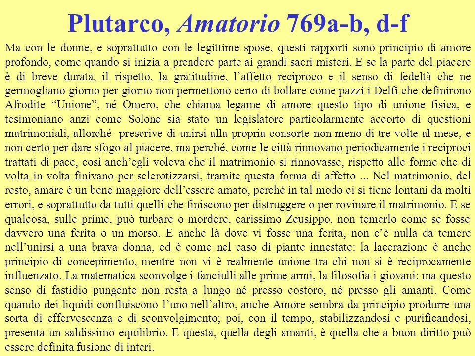 Plutarco, Amatorio 769a-b, d-f