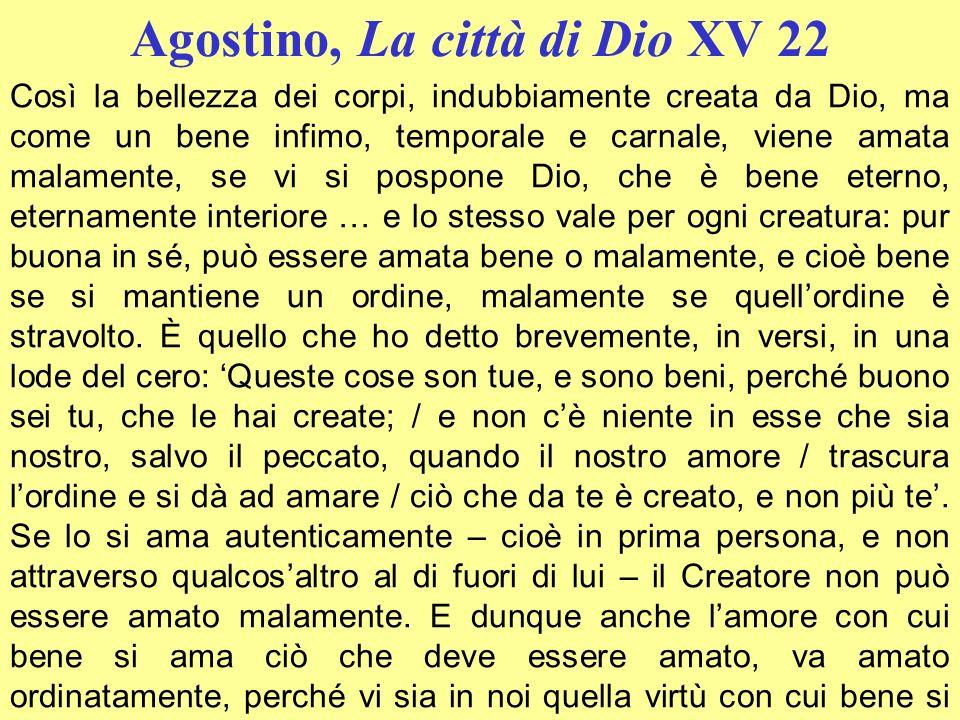 Agostino, La città di Dio XV 22
