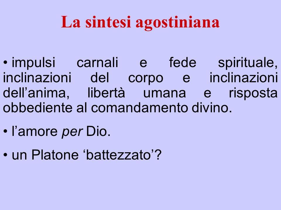 La sintesi agostiniana