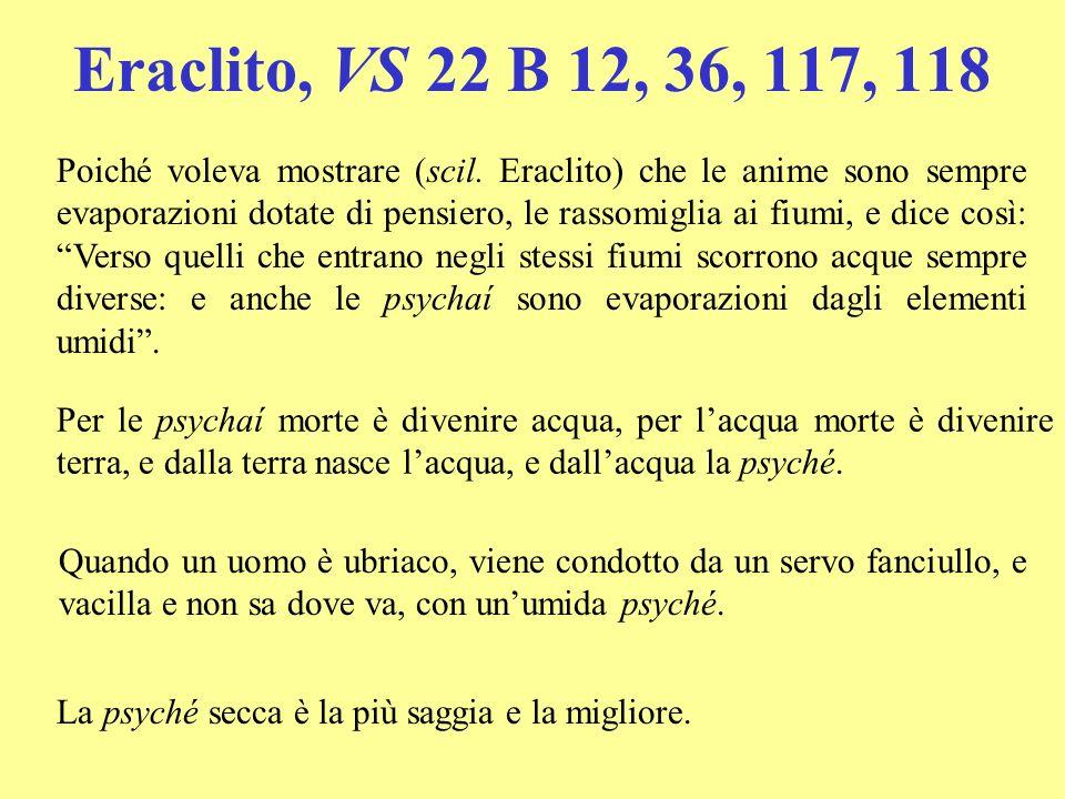 Eraclito, VS 22 B 12, 36, 117, 118