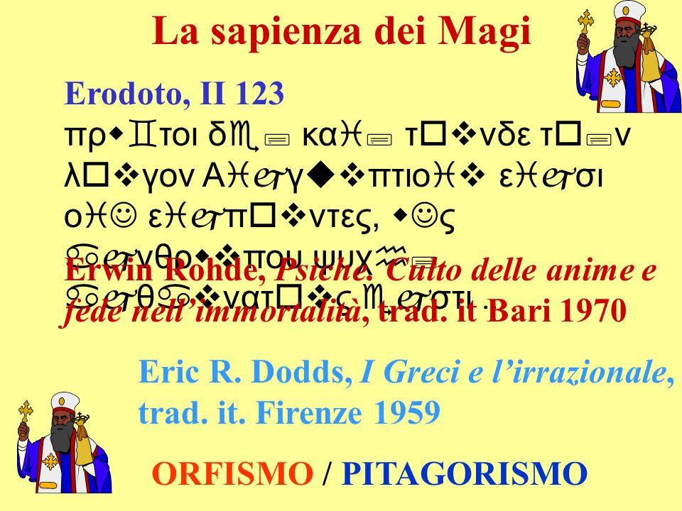 La sapienza dei Magi Erodoto, II 123