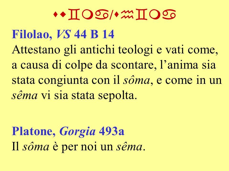 sw`ma/sh`ma Filolao, VS 44 B 14