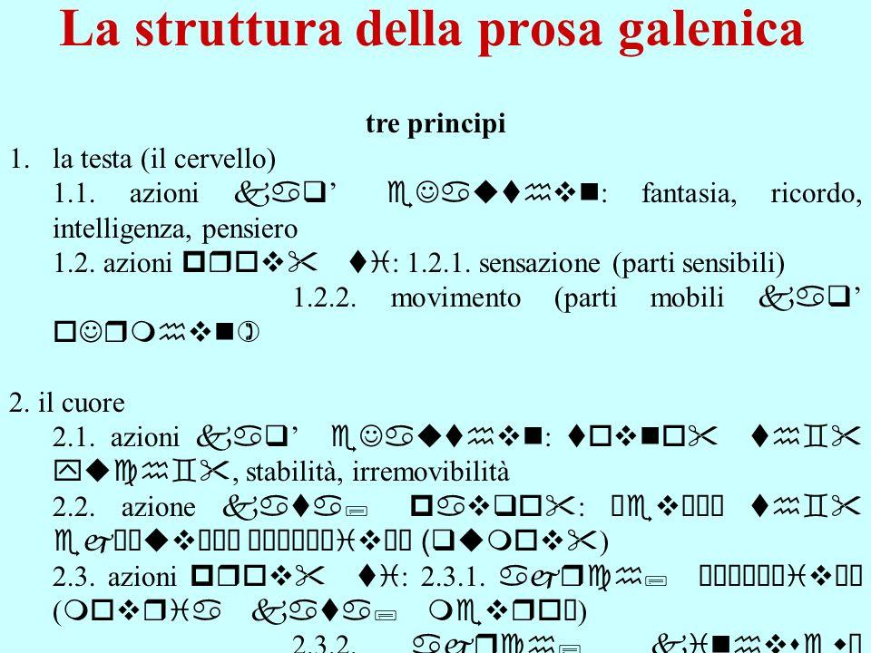 La struttura della prosa galenica
