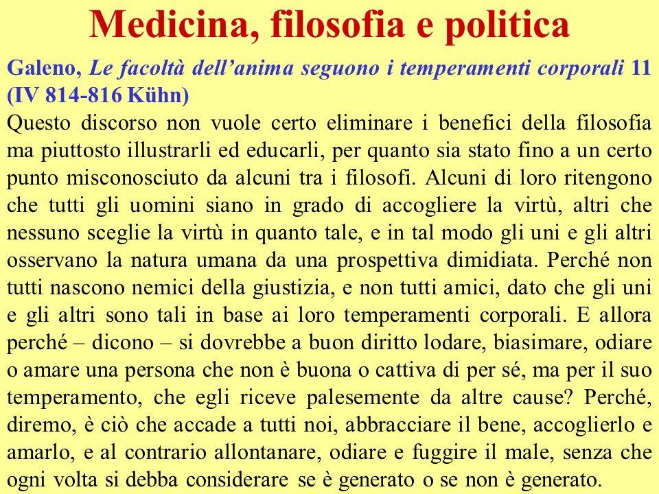 Medicina, filosofia e politica