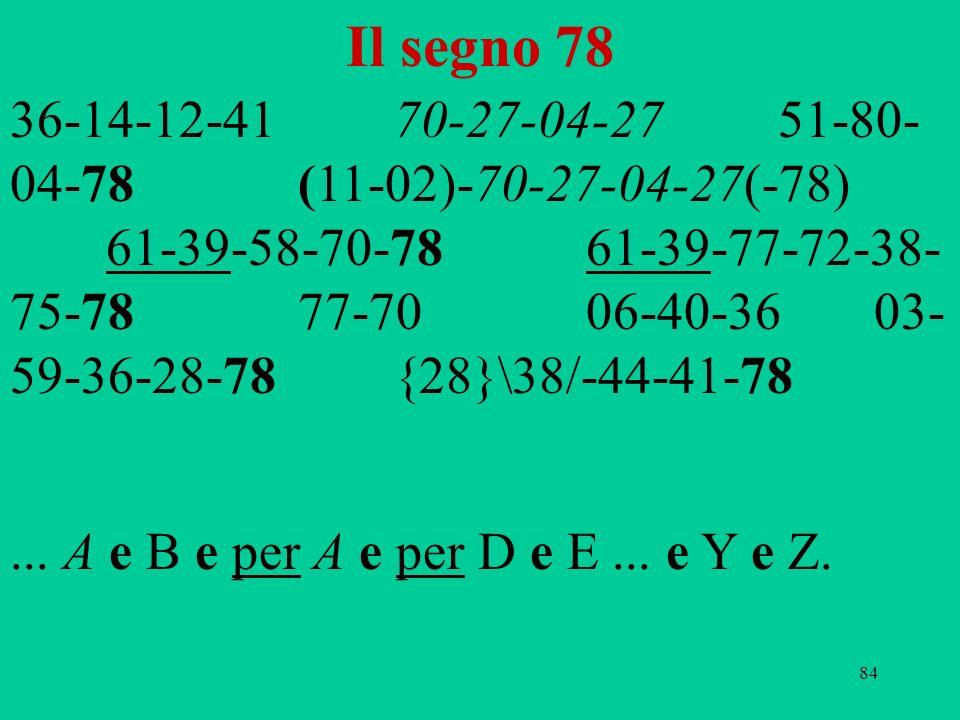 Il segno 78