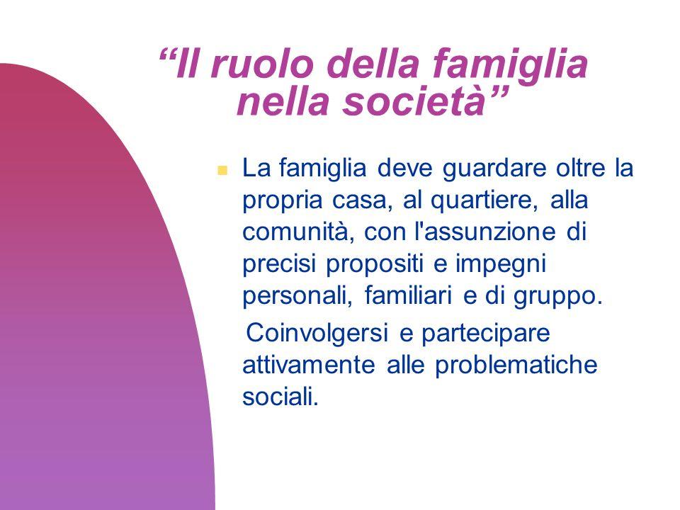 Il ruolo della famiglia nella società