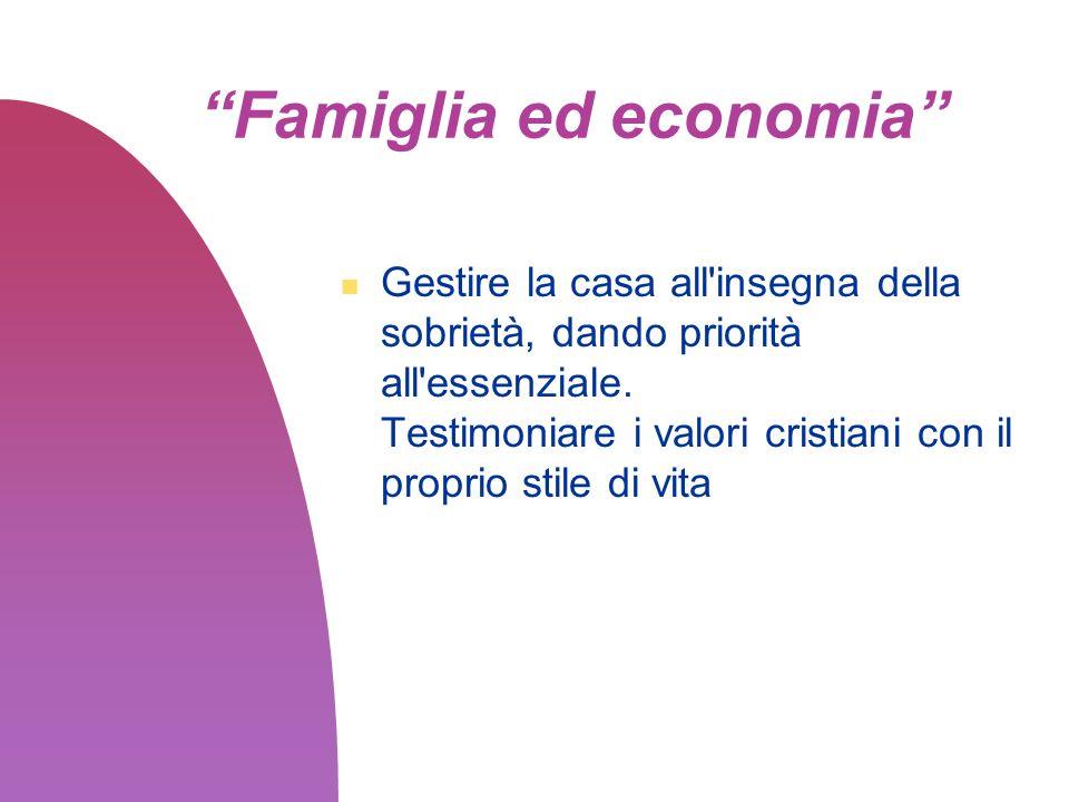 Famiglia ed economia
