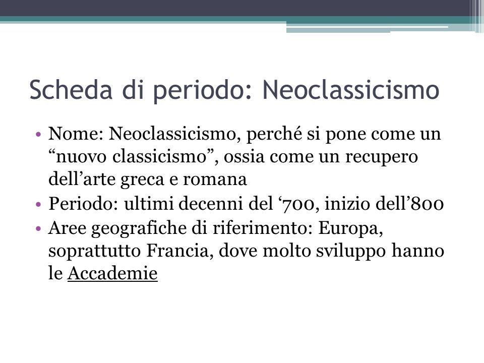 Scheda di periodo: Neoclassicismo