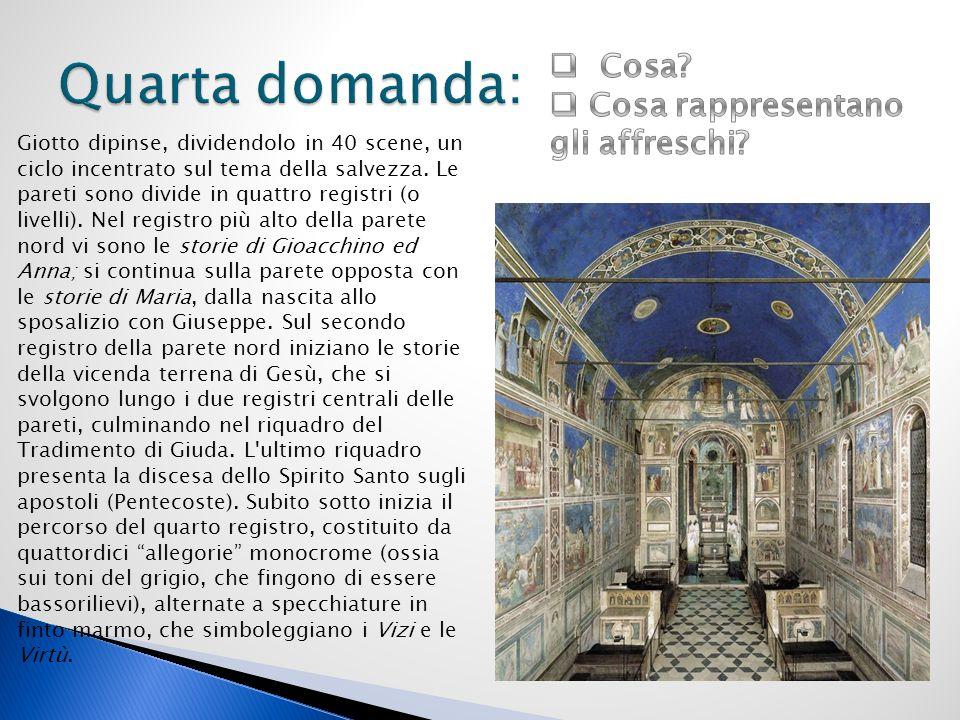 Quarta domanda: Cosa Cosa rappresentano gli affreschi