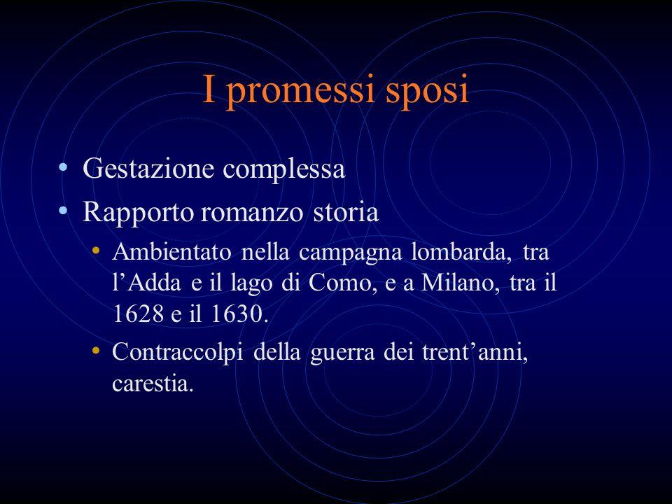 I promessi sposi Gestazione complessa Rapporto romanzo storia